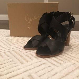 Joie wood heel sandals. NEVER WORN! BRAND NEW!
